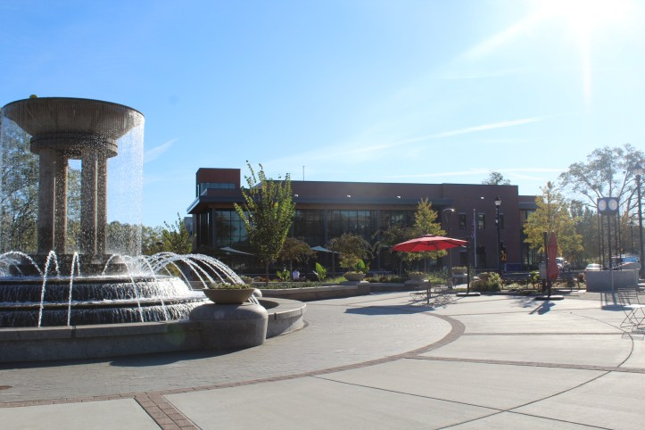 Downtown Park and the new Cary Public Library