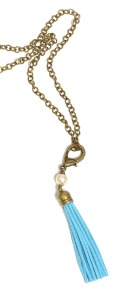 Jennifer Thames Original Chain, $20. Blue Tassel, $17. Affordable Chic