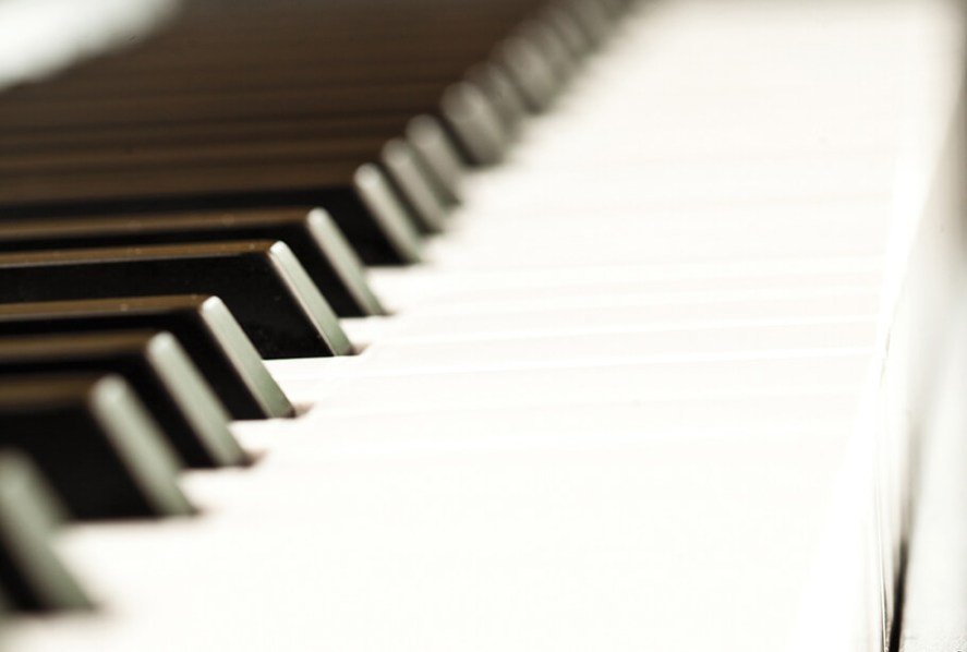 Close up of a piano