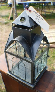 Large Metal Lantern, $23. Fill with candles or use as a planter.