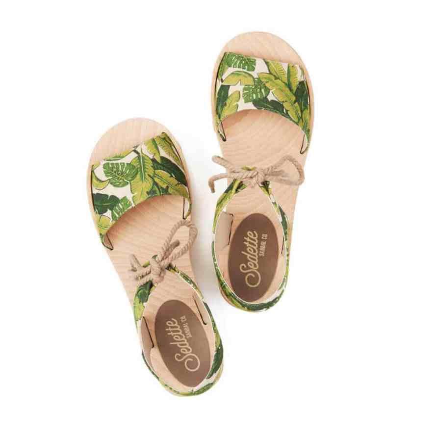 Vintage Palm Sandals by Sedette Sandal Company.