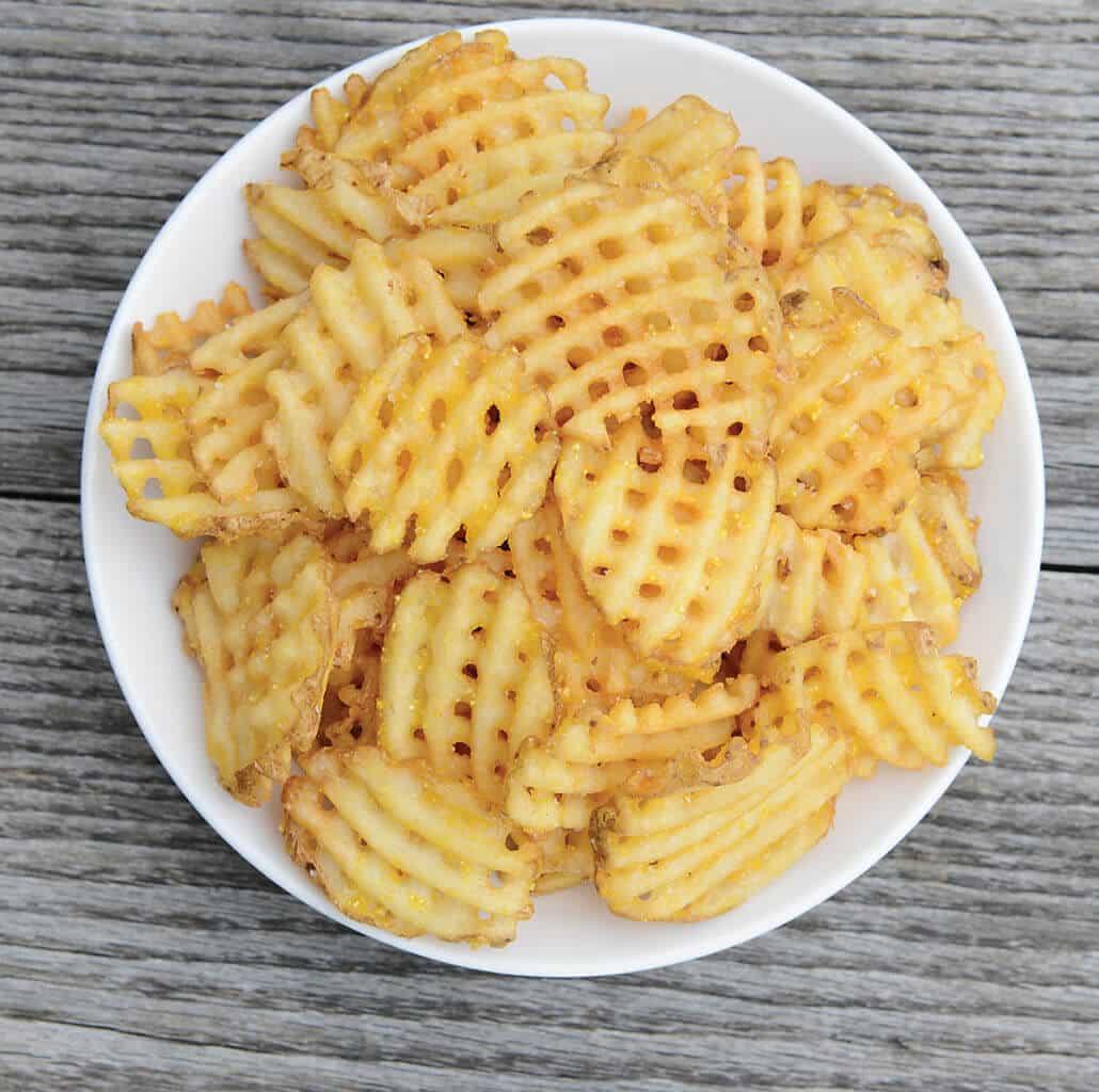 Waffle fries from Oak & Dagger