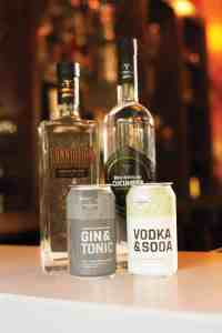 Durham Distillery gin, vodka and canned cocktails