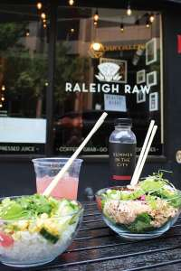 Juice and poke bowls from Raleigh Raw