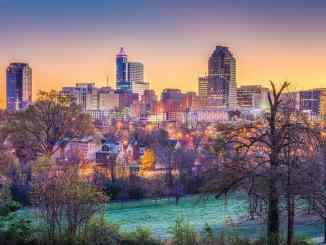 Downtown Raleigh city skyline.