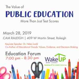 The Value of Education: More Than Just Test Scores? @ CAM Raleigh | Raleigh | North Carolina | United States