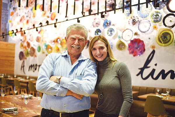 Amber Moshakos with her father, Lou Moshakos, at Vidrio