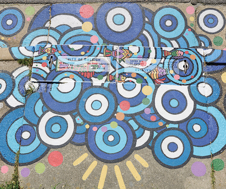 Storm drain art by local artist Sarahlaine Calva