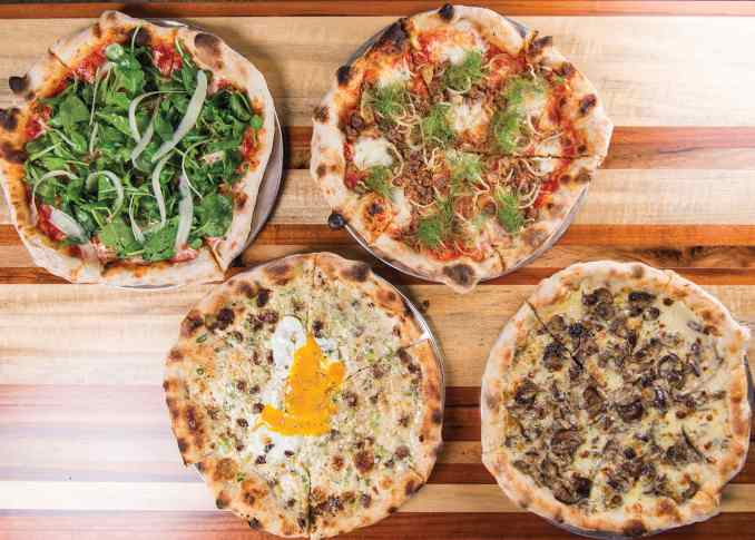 Four Pizza Mercato creations