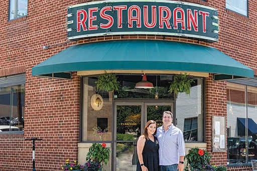 Jenessa Mitchell and Todd Henderson, Parkside's co-owners and co-founders