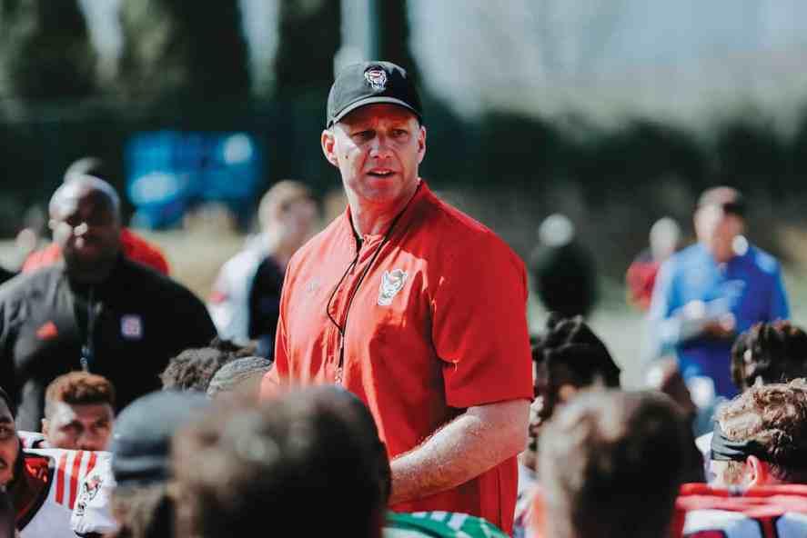 NC State football head coach Dave Doeren