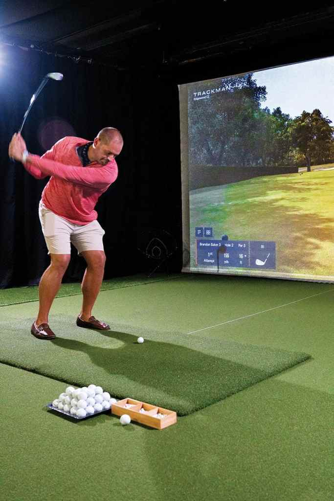 Trackman Simulator at Dogwood Country Club