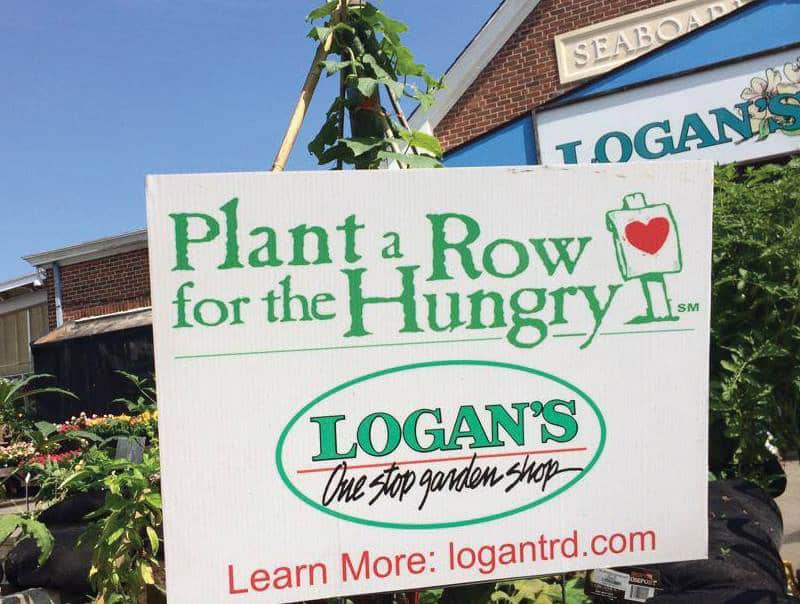 Logan's Garden Shop Plant a Row for the Hungry campaign