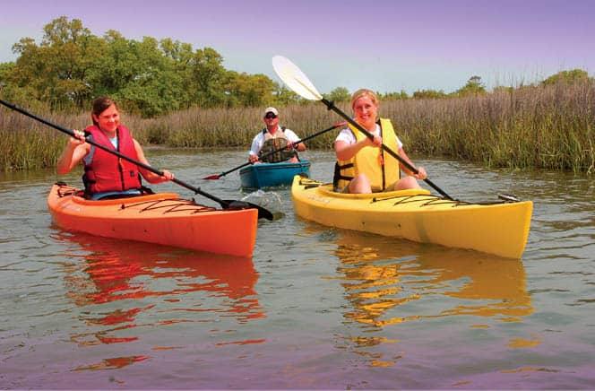 Kayaking in Surf City