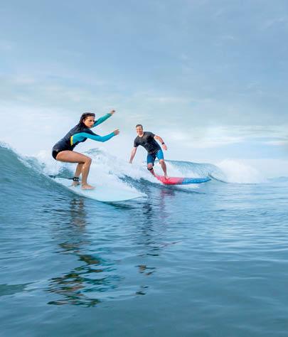 Surfing at Wrightsville Beach