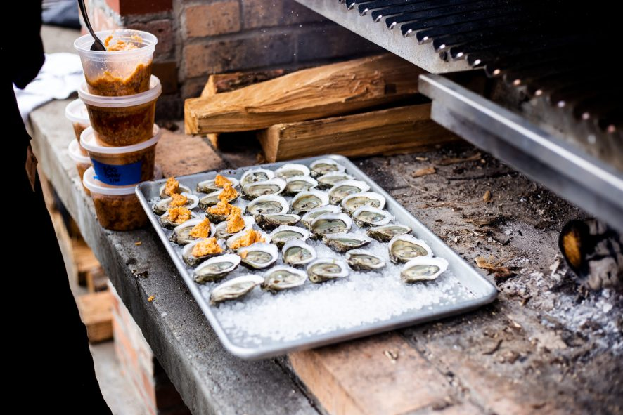 Lawrence Barbecue oysters