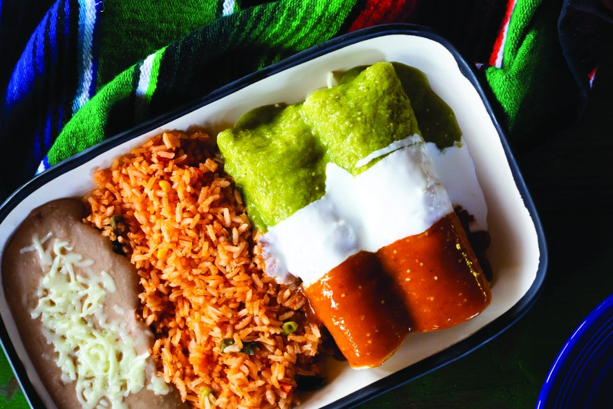 Dos Taquitos enchiladas