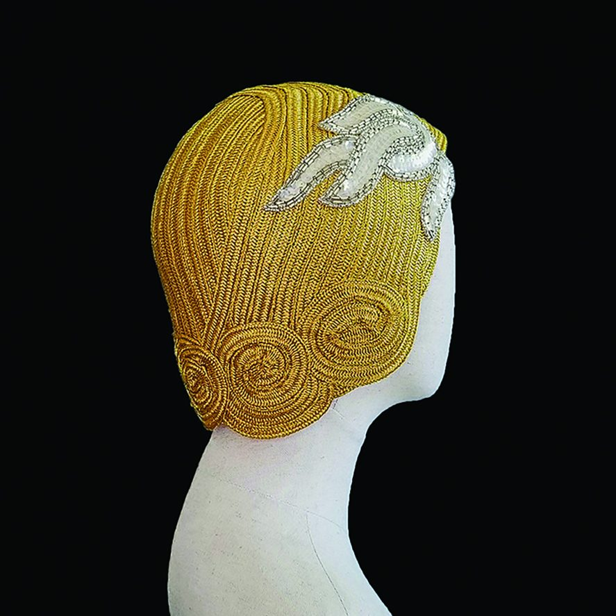 Gold Hat Lifted Millinery
