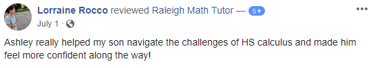 Review of Calculus tutoring