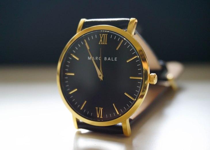 Marc Bale Gold & Black watch