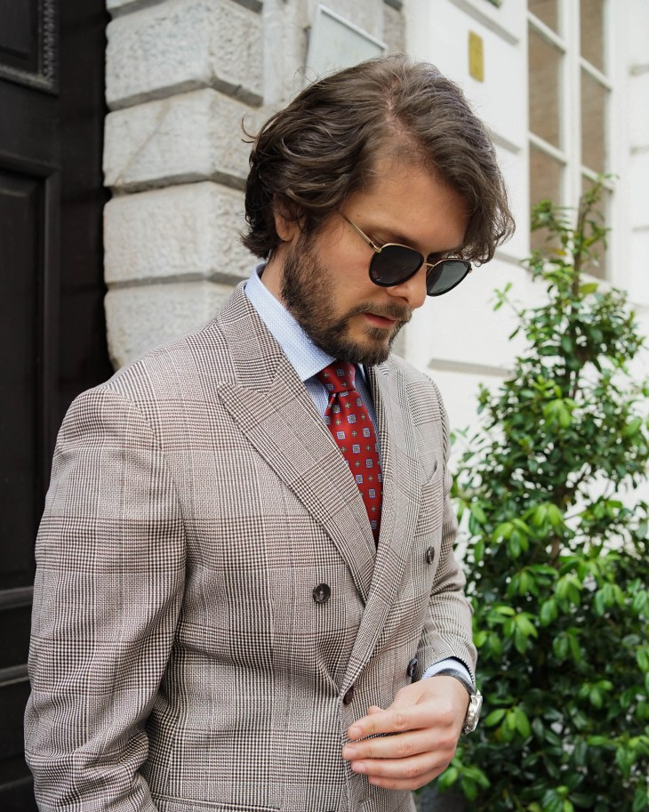 The gent style blogger, Rale Popic, men style, double breast blazer, loafers, carl Fredrik briefcase