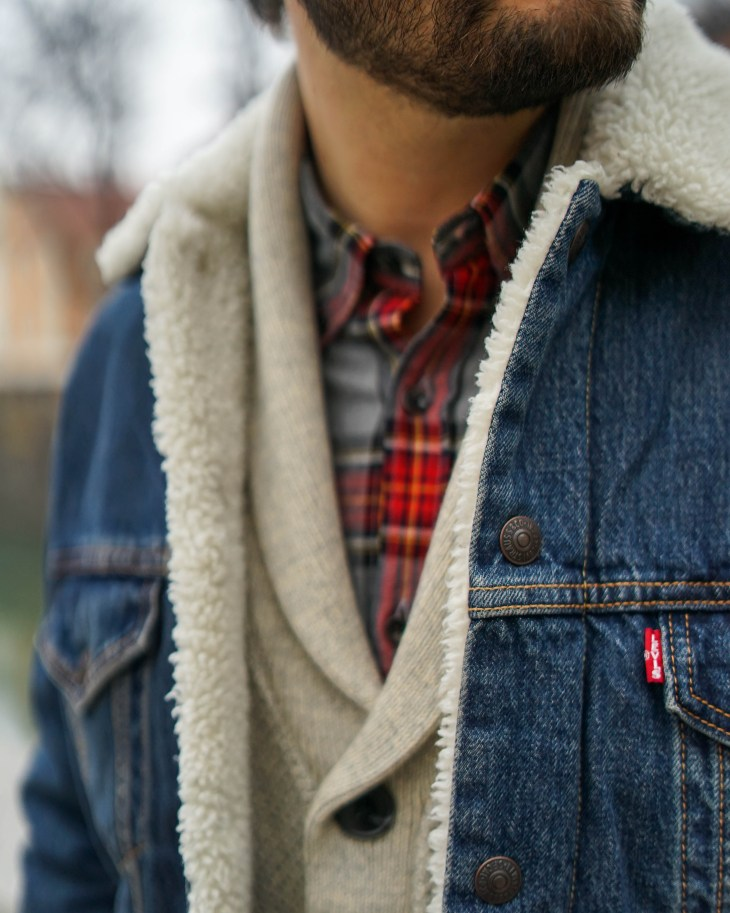 men style, denim jacket, jeans, casual style. the gent style blogger, Levi's, Rale Popic