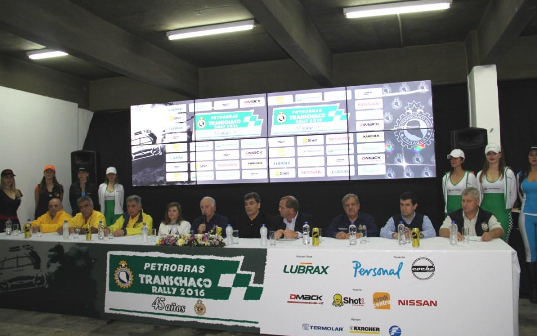 El Petrobras Transchaco Rally 2016 en línea de partida!