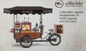 Coffee-Bike im Rallyezentrum