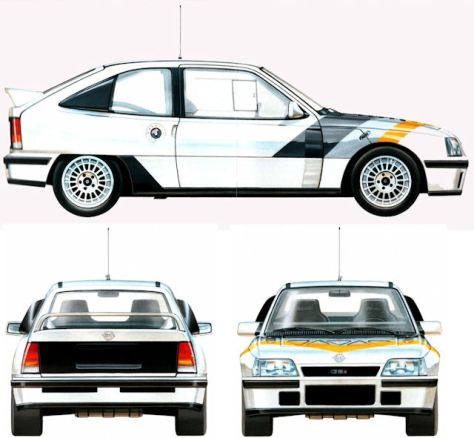 Vauxhall Astra 4S / Opel Kadett E 4S – Group B & S Prototypes | Rally Group  B Shrine
