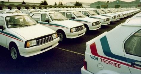 200 Citroën Visa Trophée lined up at the Heuliez plant for homologation