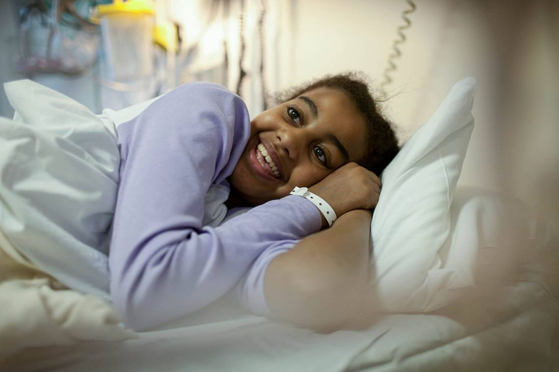 Young patient, St. Mary's Hospital, London.