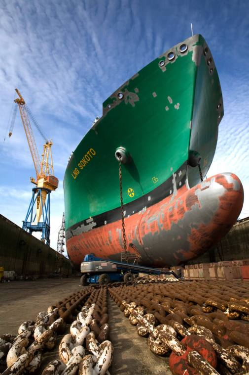 LNG Sokoto in Dry Dock, Brest, France.