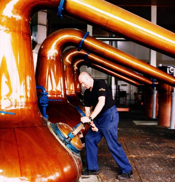 Whisky Still, The Macallan Distillery, Scotland.