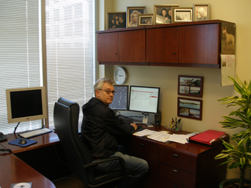 Ralph Losey in his law office