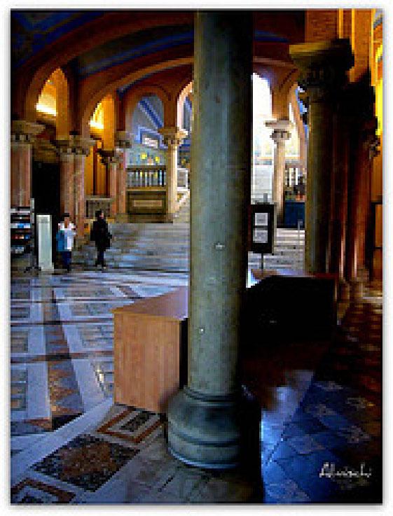 Gaudi Building interior in Barcelona