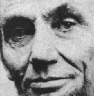 Close up of Lincoln's face on April 10, 1865