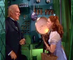 Dorothy questions the Wizard of Oz