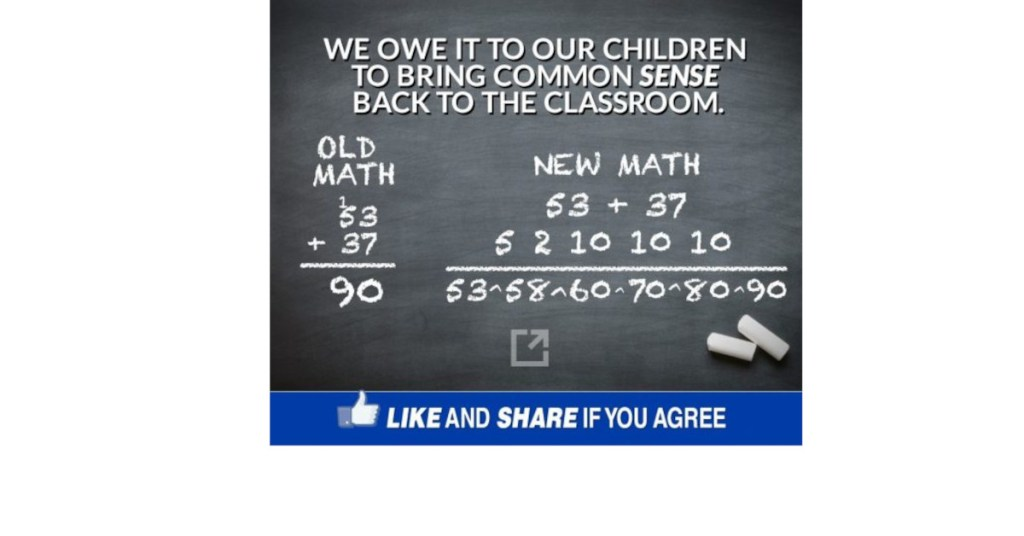 "There is no such thing as ""new math""."