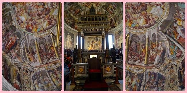 Fresce altar San Pietro in Vincoli - Giacomo Coppi