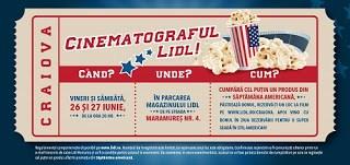 biletul de la cinematograful in aer liber de la Lidl Craiova
