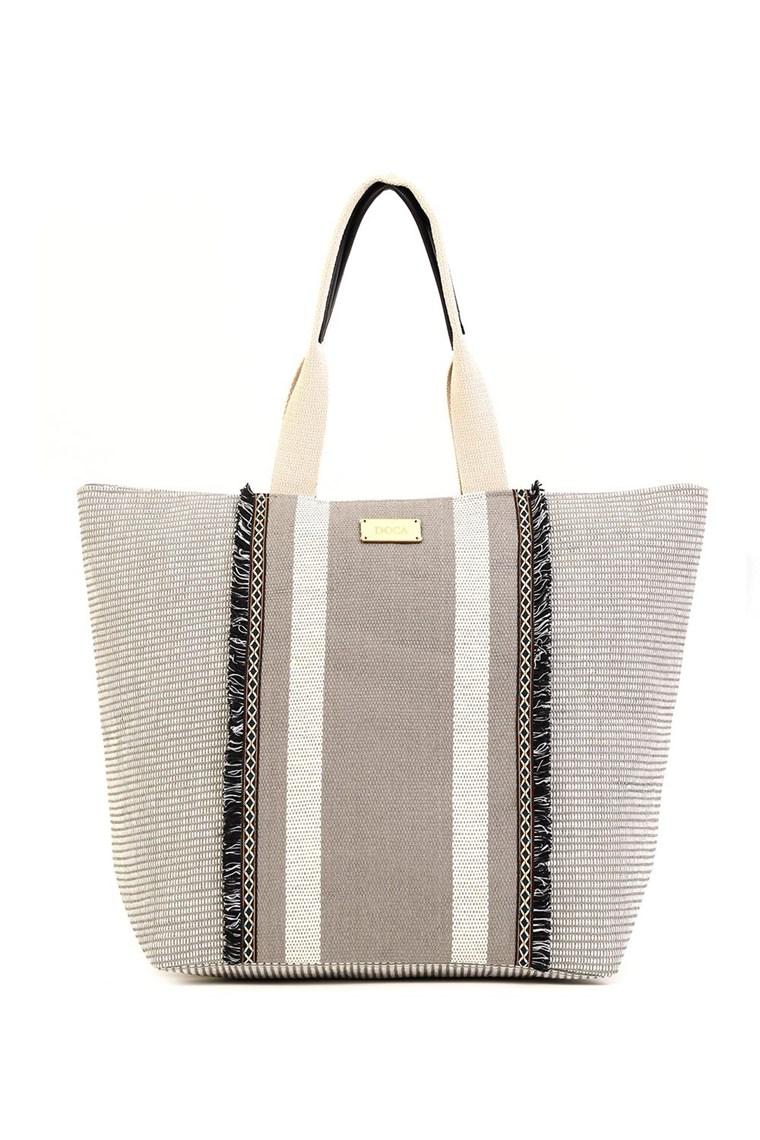 Geanta de plaja din material textil model etno