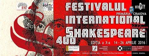 afisul Festivalului International Shakespeare Craiova 2016