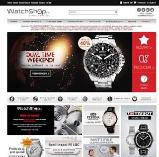 Landing page WatchShop.ro