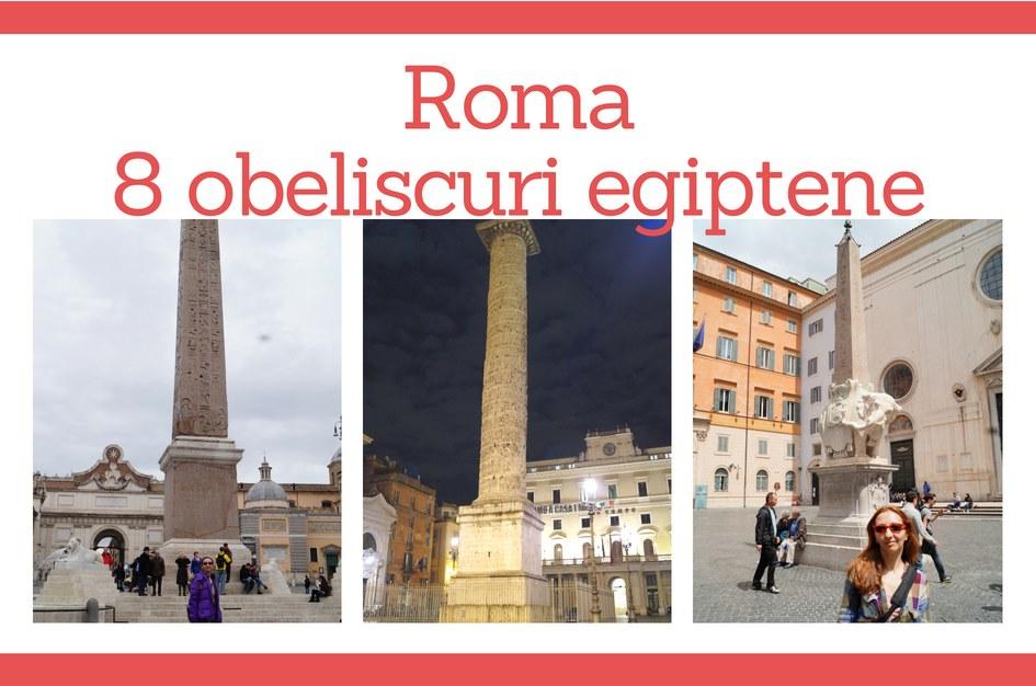 8 obeliscuri egiptene in Roma