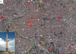 Cele 8 obeliscuri egiptene din Roma