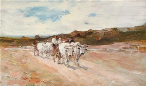 Grigorescu - Care cu boi la amiază