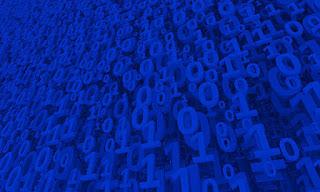 Blue Matrix by Vitaliy Gladkiy