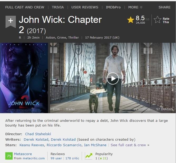 IMDB John Wick 2