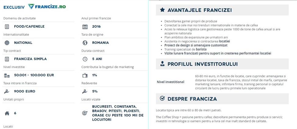 Care-i cel mai profitabil business? Aleg franciza primei cafenele de specialitate din Romania.