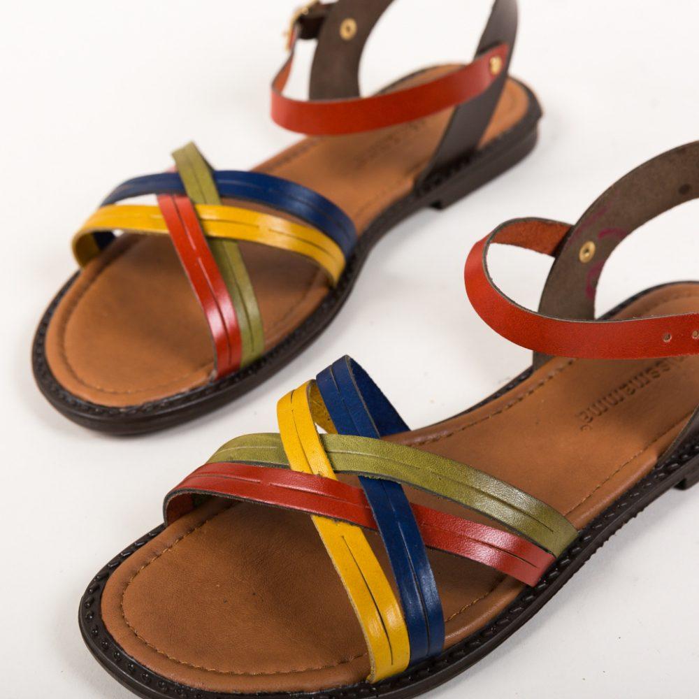 Sandale fara toc Mamas Multi, piele